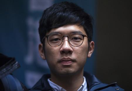 2014年の香港民主派による大規模デモ「雨傘運動」を主導した羅冠聡氏=2018年2月、香港(EPA時事)