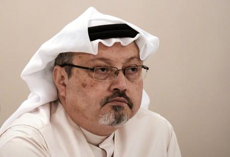 殺害されたサウジアラビア人記者ジャマル・カショギ氏=2014年12月、マナマ(AFP時事)