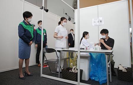 五輪関係者らにコロナワクチン接種開始